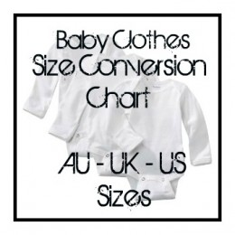 Baby clothes sizes us